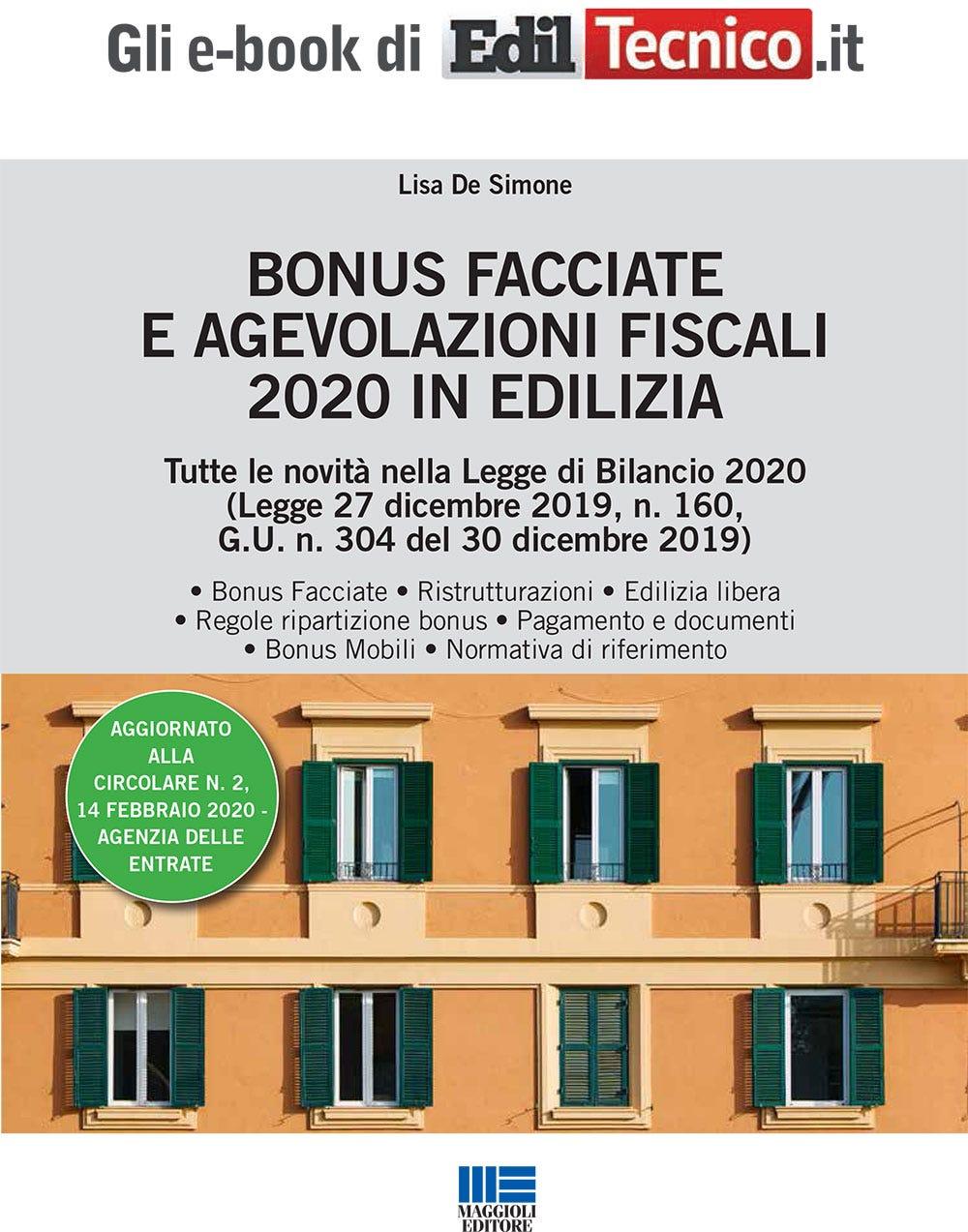 Bonus Facciate e Agevolazioni Fiscali 2020 in Edilizia (Ebook ...
