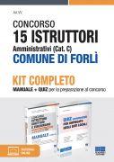 Concorso 15 Istruttori amministrativi (Cat. C) Comune di Forlì - Kit completo