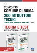 Concorso Comune di Roma 200 Istruttori tecnici Costruzioni, ambiente, territorio (CUIT/RM) - Kit completo