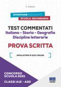 Test commentati Italiano - Storia - Geografia Discipline letterarie Classi A12/A22 - Prova scritta